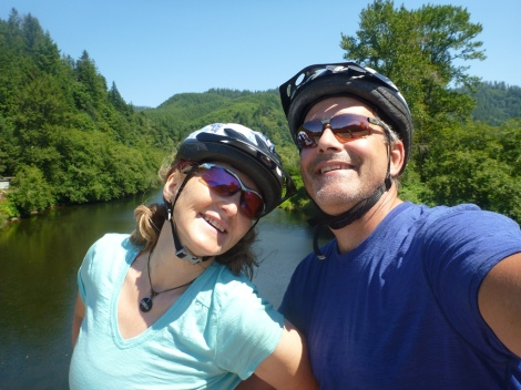 Taking a break above the Nehalem River