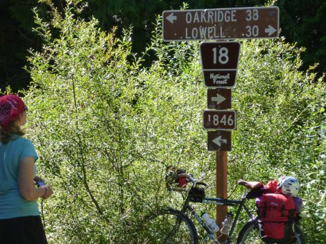 JP at the crossroads. Should we go back to Oakridge and do it all again? Not today!