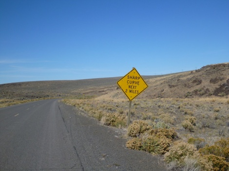 A favorite sign on any big descent
