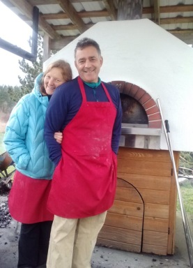 J&J and the out door oven
