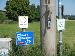 Bicycle route signs in Germany.
