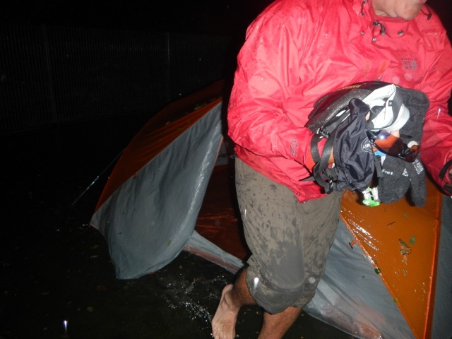 Jay removing the last items from the tent!