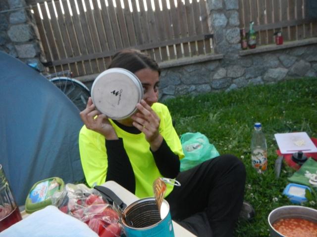 Jen hiding from the camera