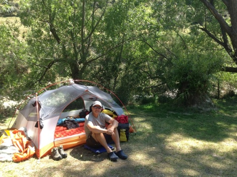 Our sweet camp spot - riverside.