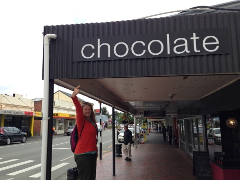 Two chocolate shops in Geraldine.