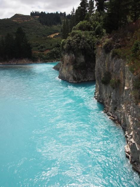 Rakia Gorge - Blue Glacial waters.
