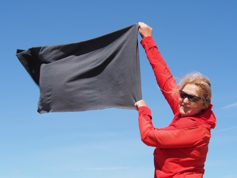 Which way is the wind blowing? or Drying out your towel.