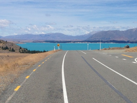 Dropping down to Lake Pukaki from the canal.