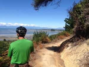 Looking over the bay towards Nelson from the Mountain bike park