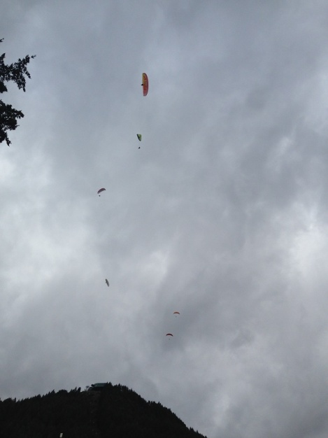 Paragliders dropping out of the sky over Queensland- on the hour.