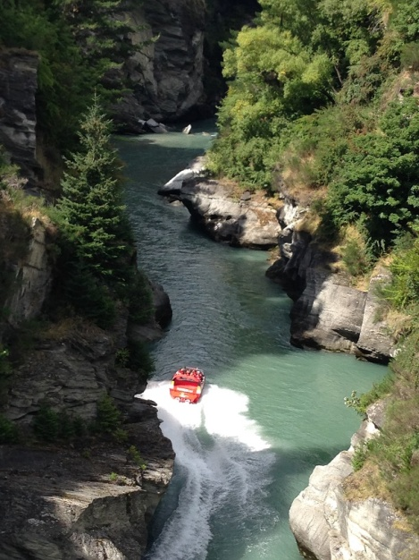 Jet boating on Shotover canyon - just outside Queenstown