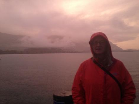 A Rainy sunset at Lake Wanaka.