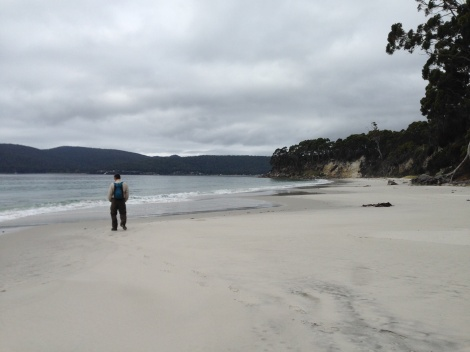 Adventure bay beach. Not a sole around - just us.