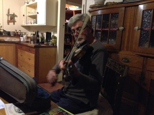 John playing the fiddle for us.