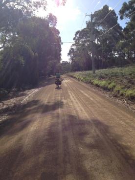 The road up the Old Station - a well maintained dirt road.