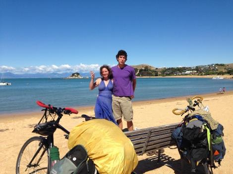 Sam and Jes at Kaiterteri Beach