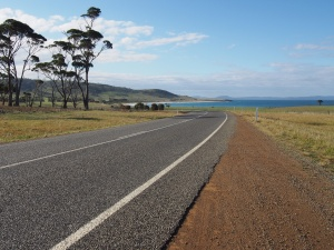 Heading up the east coast of Tasmania.